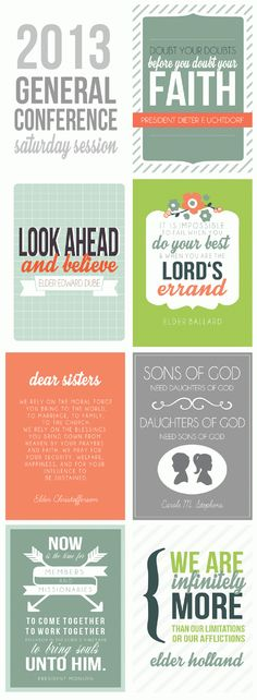 2013 General Conference Printable Quotes