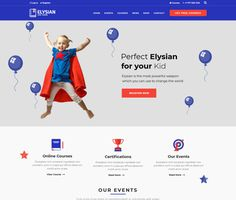 Elysian - ModelTheme Free Courses, Online Courses, School Themes, Wordpress Theme, Kindergarten, Author, The Incredibles, Education, Learning