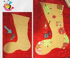 Big sock  children  paper  diy  tutorial Come creare una calza befana di 019f4556837e