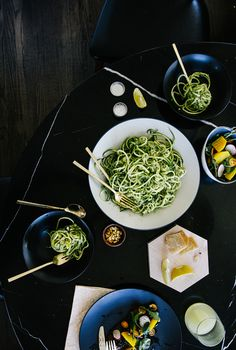 recipe: zucchini pasta w/ mint-pea pesto // creative's dish with julie lee // smitten studio