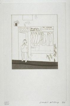 """David Hockney: 'To Remain' from """"14 Poems of Cavafy"""", 1966 (etching and aquatint on paper)"""
