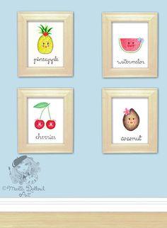 Impression dart pastèque fruit. Fruits pépinière par MartaDalloul
