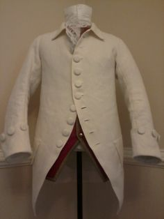 White linen jacket made for a client in Georgia.