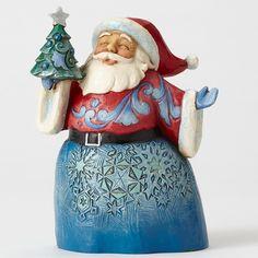 Jim Shore Wonderland Pint Sized Santa with Tree