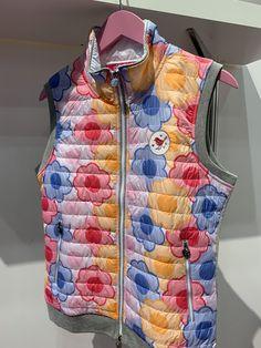 Girls Golf, Flower Power, Vest, Jackets, Fashion, Dressmaking, Down Jackets, Moda, Fashion Styles