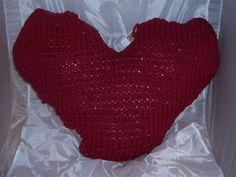 Kissen - Herzkissen aus Textilgarn gestrickt gefüllt - ein Designerstück von Pfefferkuchenmadel bei DaWanda
