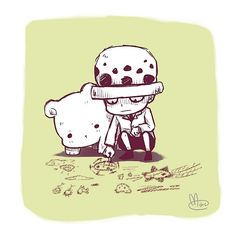 Trafalgar Law and Bepo: I really hope that Bepo ends up being a part of Law's flashback.