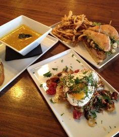 Sautéed Chanterelle Mushrooms, Butternut Squash Soup, and a Slow Roasted Pork Butt Sandwich - the newest, tastiest items on the menu at Public House 124!