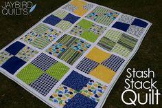 A Little Birdie Told Me... Stash Stack Quilt Tutorial | Jaybird Quilts