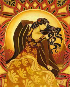 Madame Soleil  Sun Goddess 16x20 Poster Print by EmilyBalivet, $65.00