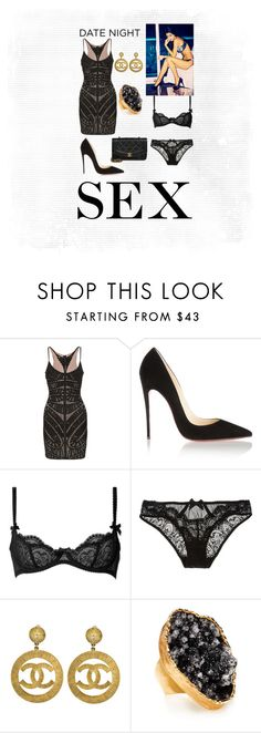"""""""Get Sexy"""" by jjcooler ❤ liked on Polyvore featuring Hervé Léger, Christian Louboutin, Agent Provocateur, L'Agent By Agent Provocateur, Chanel and Henri Bendel"""