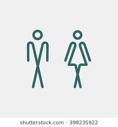 Wc / toilet door plate icon men, women toilet wc dish-similar images, stock photos & vectors of 395135944 Toilet Logo, Toilet Signage, Signage Design, Logo Design, Wc Icon, Office Signage, Wall Logo, Hotel Room Design, Restroom Design