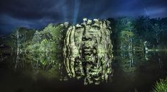 Members of a Brazilian Indigenous Tribe Projected Onto the Amazon Rainforest by Photographer Philippe Echaroux   Colossal