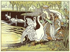 The Six Swans -- Donn P. Crane -- Fairytale Illustration