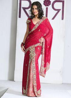 Qualified Vintage Sari Border Antique Hand Beaded Indian Trim Sewing Pink Zari Lace Punctual Timing Trims