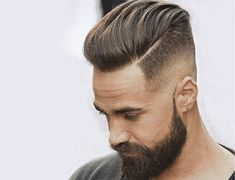 Medium Length Pompadour + Hard Side Part - Disconnected Undercut Hairstyles Pompadour Hairstyle, Undercut Hairstyles, Hairstyles Haircuts, Men Undercut, Men's Pompadour, Medium Hairstyles, Latest Hairstyles, Mens Hairstyles 2018, Wedding Hairstyles