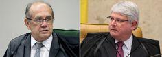 """Caos institucional brasileiro atinge novo patamar nesta quarta-feira 22; um dia depois de o ministro Gilmar Mendes, do Supremo Tribunal Federal, acusar o procurador-geral Rodrigo Janot, de vazar documentos da Lava Jato e pedir a anulação das delações, veio a resposta; Janot disse que Gilmar sofre de """"disenteria verbal"""" e """"decrepitude mental""""; o procurador também o acusou de """"fazer política em banquetes palacianos""""; Janot foi apoiado pela força-tarefa da Lava Jato..."""
