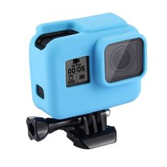 [$1.56] PULUZ for GoPro HERO5 Housing Cover Silicone Protective Case with Lens Cover(Blue)