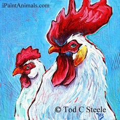 Behind Every Good Rooster is a Good Hen (pecking) - Tod Steele