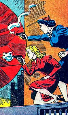 """""""Jill Trent, Science Sleuth"""" in Wonder Comics #13 (1947) by Al Camy"""
