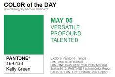 ...y el color de hoy es Verde Kelly, un color versátil, profundo, talentoso. Más info en http://www.pyma.com/tutoriales-y-trucos/y-los-colores-pantone-de-esta-semana-sonsemana-del-2-al-8-de-mayo/