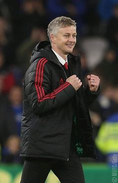 Caretaker Manager Ole Gunnar Solskjaer of Manchester United celebrates after the Premier League match between Cardiff City and Manchester United at Cardiff City Stadium on December 2018 in. Get premium, high resolution news photos at Getty Images Man Utd Squad, Man Utd Fc, Cristiano Ronaldo Celebration, Manchester United Stadium, Cardiff City, Cardiff Wales, Sir Alex Ferguson, Best Football Team, Soccer Coaching