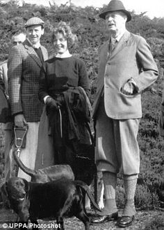 The Duke of Devonshire was a minister in the government of Prime Harold Macmillan, pictured on the right, while on holiday with the Devonshires.