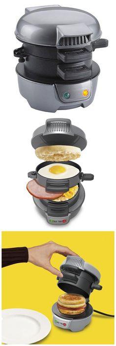 Automatic Eggs Hamburger Maker Breakfast Sandwich Making Appliance #kitchek #gadget
