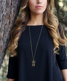Another great find on #zulily! Gold Dream Catcher Necklace by LovMely #zulilyfinds