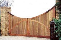 BA2 Iroko Wooden Gates