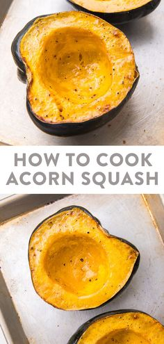 Learn how to cook acorn squash for the most deliciously tender and easy winter side dish! With microwave instructions for when you're pressed on time but still want a filling, healthy side. #sidedish #healthy #winterrecipes #fallfood Healthy Vegetable Recipes, Healthy Recipes On A Budget, Vegetarian Recipes Dinner, Whole Food Recipes, Healthy Food, Paleo Food, Healthy Eating, Thanksgiving Recipes, Fall Recipes