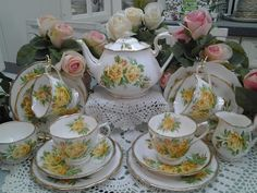 Royal Albert Tea Rose China - I'd like to collect a few pieces of this.