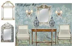 Seven on Sunday - The Enchanted Home Entryway Lighting, Enchanted Home, Grand Entrance, Traditional Decor, Happy Sunday, Chinoiserie, Mood Boards, Foyer, Heaven