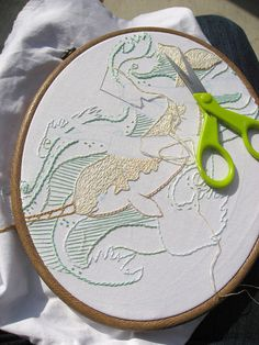 A sweet narwhal embroidery piece