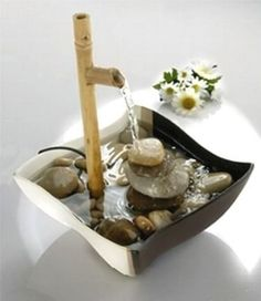 This Indoor Water Fountains are the easiest way to add fine art to your home. Homemade Water Fountains, Indoor Water Fountains, Indoor Fountain, Garden Fountains, Outdoor Fountains, Home Fountain, Tabletop Water Fountain, Diy Fountain, Bamboo Water Fountain