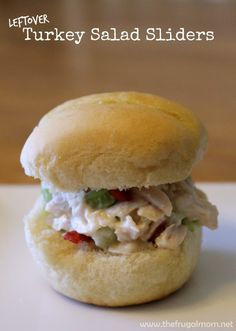 Change It Up With These Leftover Turkey Salad Sliders
