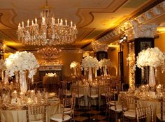 classic all white with uplighting