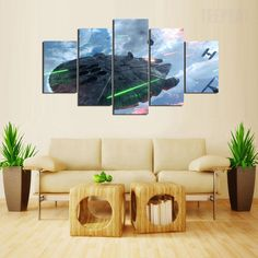 Star Wars Battle V2 Painting - 5 Piece Canvas #prints #printable #painting #canvas #empireprints #teepeat