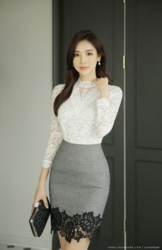 Romantic & Trendy Looks, Styleonme Skirt Outfits, Fall Outfits, Cute Outfits, Elegant Dresses, Beautiful Dresses, Classy Work Outfits, Elegantes Outfit, Outfit Trends, Professional Outfits