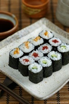 How To Make Sushi Rolls with Video & Step-By-Step Photo Tutorials   Easy Japanese Recipes at JustOneCookbook.com
