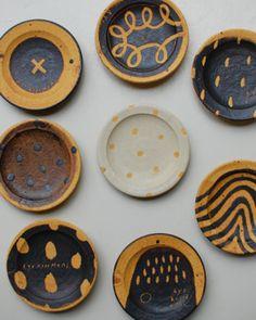 小泊 良 Glazes For Pottery, Ceramic Pottery, Ceramic Plates, Ceramic Art, Earthenware, Stoneware, Ceramic Texture, Kitchen Necessities, Music Decor