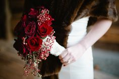 Accented with lace and berries