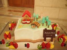 のどかな自然とおふたりの幸せが伝わる温かいケーキです。