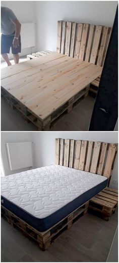 Setting up your bedroom with the idealistic use of wood pallet bed will give an impressive look to your bedroom. It sounds quite different to do but once you tried out this concept it would make you fall in love with the beauty of the room.