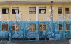 Juxtapoz Magazine - Blu x Ericailcane mural in Bari, Italy | Street Art