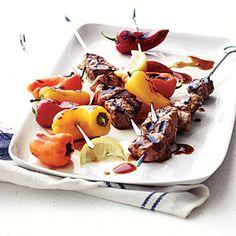 Pork and Sweet Pepper Kebabs | MyRecipes.com #myplate #protein #vegetables