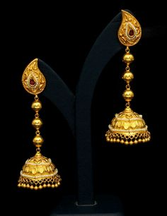 gold jhumka - Google Search
