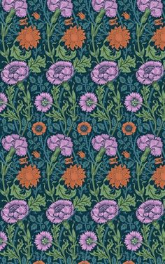 William Morris Carnations and Roses all over print stencil