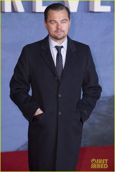 Leonardo DiCaprio Brings 'The Revenant' to London After Oscar Nomination News: Photo Leonardo DiCaprio bundles up in a dapper coat while attending the premiere of his critically-acclaimed new film The Revenant held at the Empire Leicester Square… Ricky Gervais, The Revenant, Leonardo Dicaprio, American Actors, Celebrity Crush, Dapper, Hot Guys, Suit Jacket, Suits