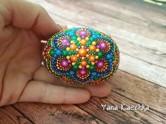 Check out this item in my Etsy shop https://www.etsy.com/listing/525469272/free-shipping-hand-painted-mandala-stone